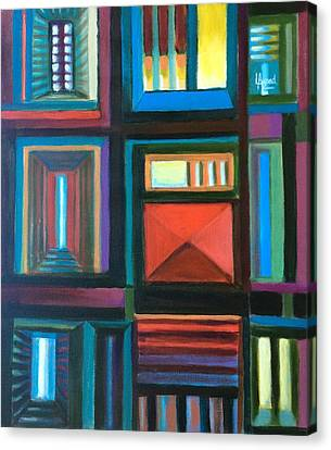 Canvas Print featuring the painting The Doors Of Hope  by Laila Awad Jamaleldin
