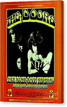 The Doors Poster Canvas Print by Pd