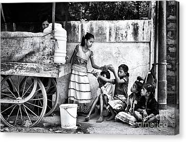The Dosa Cart Canvas Print by Tim Gainey