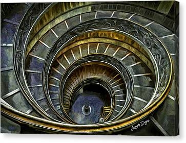 The Double Spiral - Da Canvas Print by Leonardo Digenio