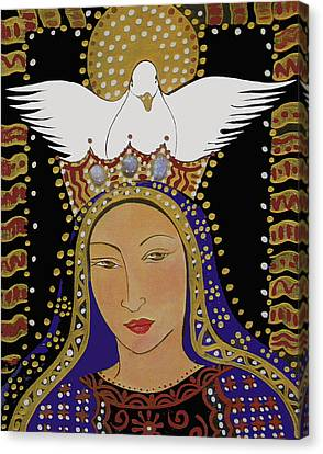The Dove And The Madonna Canvas Print by Christina Miller