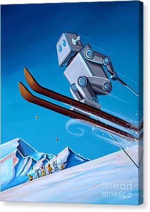 The Downhill Race Canvas Print by Cindy Thornton
