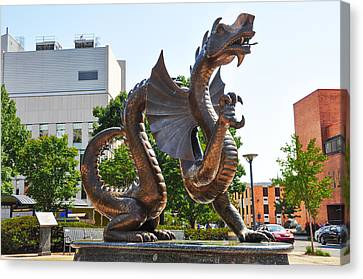 The Dragon - Drexel University Canvas Print by Bill Cannon