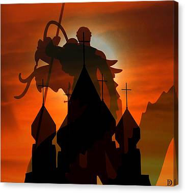 The Dragon Slayer Canvas Print by David Lee Thompson