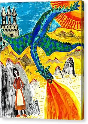 The Dragon Canvas Print by Sushila Burgess