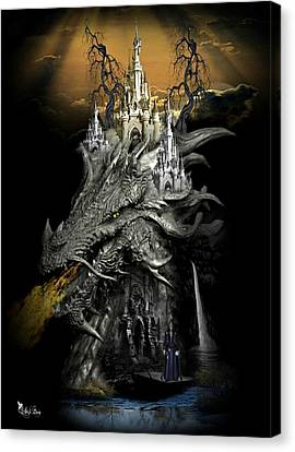 The Dragons Castle Canvas Print by Ali Oppy