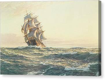Storm Canvas Print - The Dreadnought by Montague Dawson