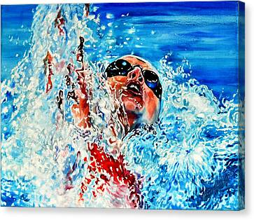 Action Sports Artist Canvas Print - The Dream Becomes Reality by Hanne Lore Koehler