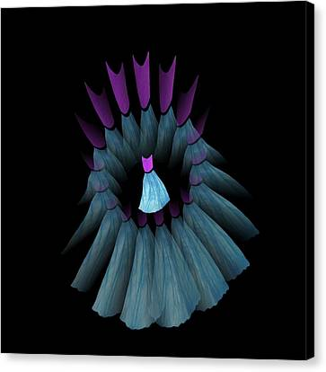 The Dream Circle Of Wise Women - Turquoise And Purple Canvas Print by Jacqueline Migell