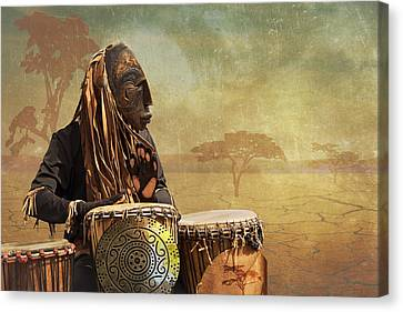 The Dream Of His Drums Canvas Print by Christina Lihani