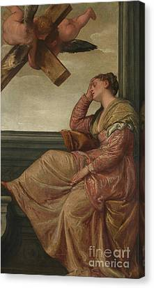 The Dream Of Saint Helena Canvas Print by Veronese