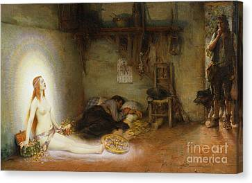 The Dream Canvas Print by Pierre Justin Ouvrie