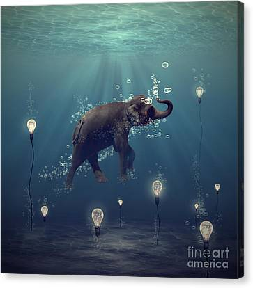 Light Canvas Print - The Dreamer by Martine Roch