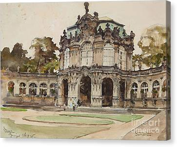The Dresden Zwinger Canvas Print by Celestial Images
