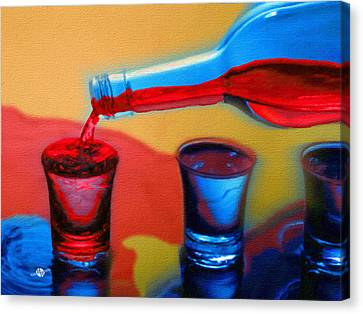 The Drink That Inspires You Ode To Addiction Canvas Print by Tony Rubino