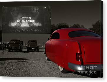 The Drive-in Canvas Print by Dennis Hedberg