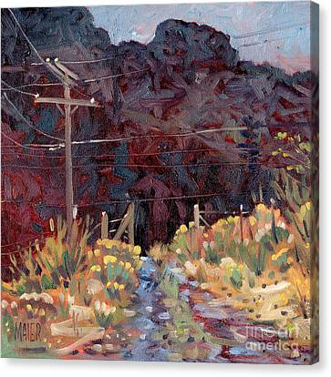 Lava Flow Canvas Print - The Driveway by Donald Maier