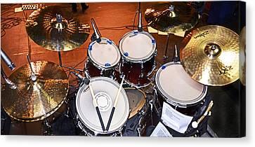 The Drum Set Canvas Print