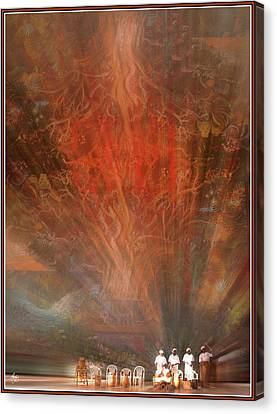 Canvas Print featuring the photograph The Drumbeat Rising by Wayne King