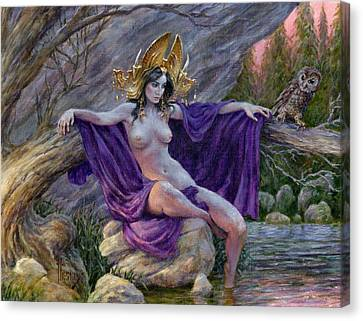 The Dryad's Throne Canvas Print by Richard Hescox
