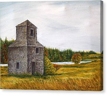 The Drying Barn Canvas Print by Norman F Jackson