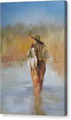 The Duck Hunter Canvas Print by Debbie Anderson
