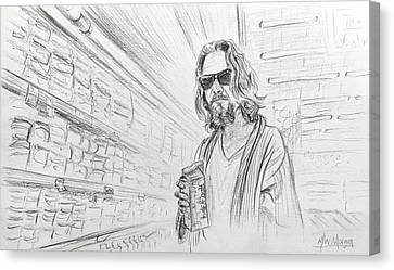 Jeff Bridges Canvas Print - The Dude Abides by Michael Morgan
