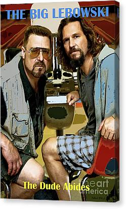 The Tiger Hunt Canvas Print - The Dude Abides, The Big Lebowski by Thomas Pollart