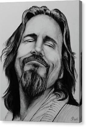 Jeff Bridges Canvas Print - The Dude Abides by Tim Brandt