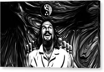 The Dude B W Canvas Print by Rob Hans