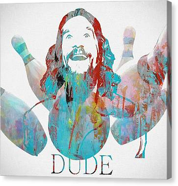 The Dude Bowling Canvas Print by Dan Sproul