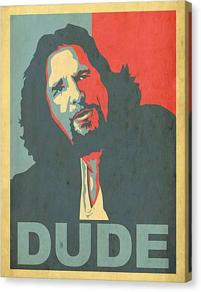 Obama Poster Canvas Print - The Dude Obama Poster by Christian Broadbent