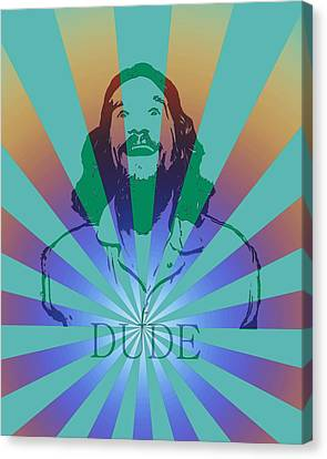 The Dude Pyschedelic Poster Canvas Print by Dan Sproul