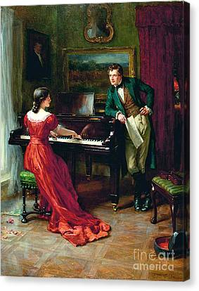 The Duet Canvas Print by MotionAge Designs