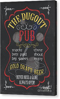 The Dugout Pub Canvas Print by Debbie DeWitt
