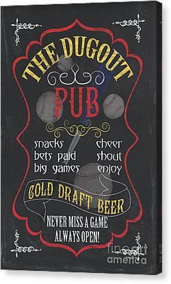 Bet Canvas Print - The Dugout Pub by Debbie DeWitt