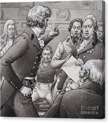The Duke Of Cumberland, Shown Clashing In Public With His Brothers Canvas Print by Pat Nicolle