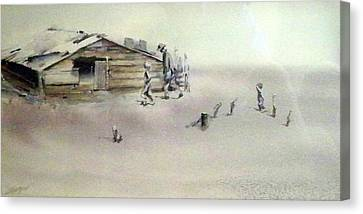 The Dustbowl Canvas Print by Ed Heaton