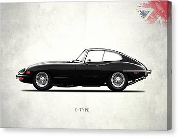 The E Type Canvas Print by Mark Rogan