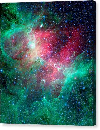 The Eagle Nebula In The Serpens Constellation Canvas Print