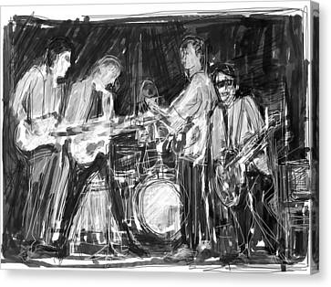 The Early Beatles Canvas Print by Russell Pierce