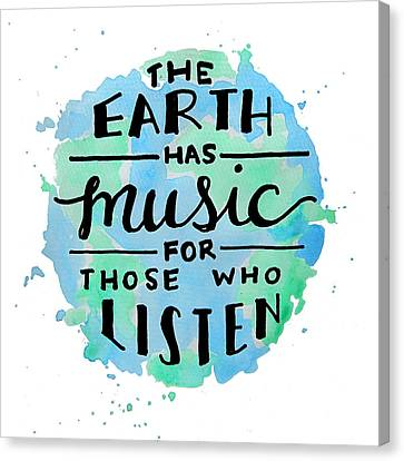 The Earth Has Music Square Canvas Print by Michelle Eshleman