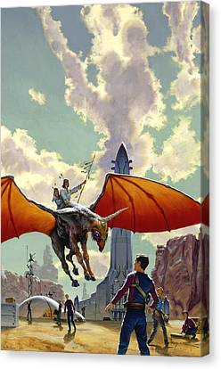 The Earth Is All That Lasts Canvas Print by Richard Hescox