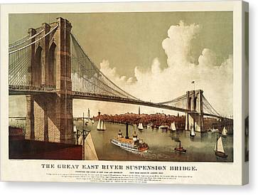 The East River Canvas Print