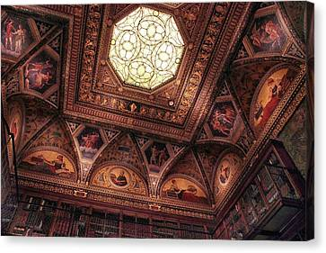 Canvas Print featuring the photograph The East Room Ceiling by Jessica Jenney