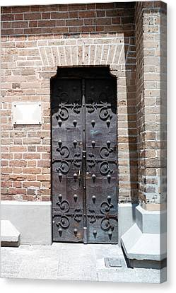 The East Side Door Of The Cathedral Canvas Print