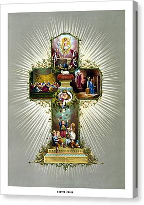 The Easter Cross Canvas Print by War Is Hell Store