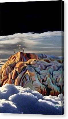 The Eclipse At Calvary Sec I I I Canvas Print by Ron Chambers
