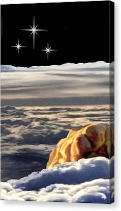 The Eclipse At Calvary Sec I I Canvas Print by Ron Chambers