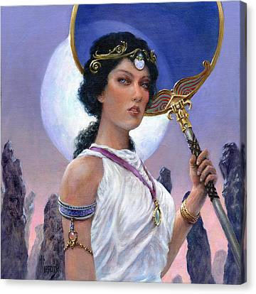 The Eclipse Canvas Print by Richard Hescox